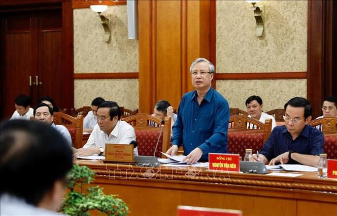 Ông Trần Quốc Vượng chủ trì phiên họp Tiểu ban Tổ chức phục vụ Đại hội XIII - Ảnh 1.