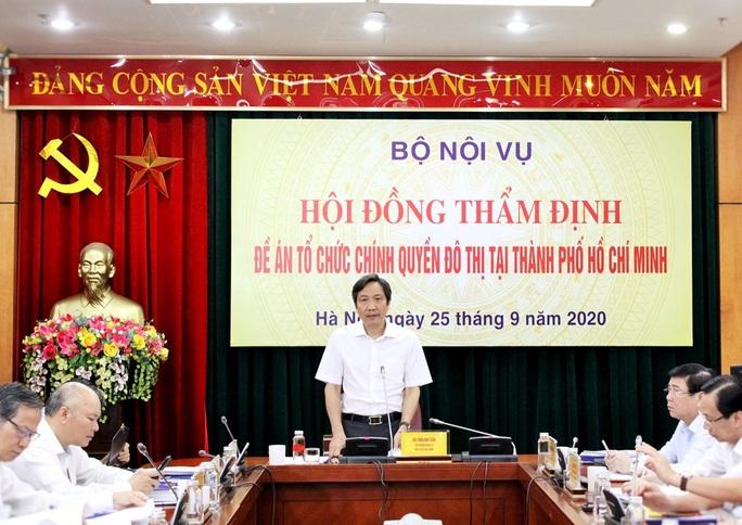 Bộ Nội vụ đề nghị TP HCM gấp rút hoàn thiện Đề án tổ chức chính quyền đô thị - Ảnh 1.