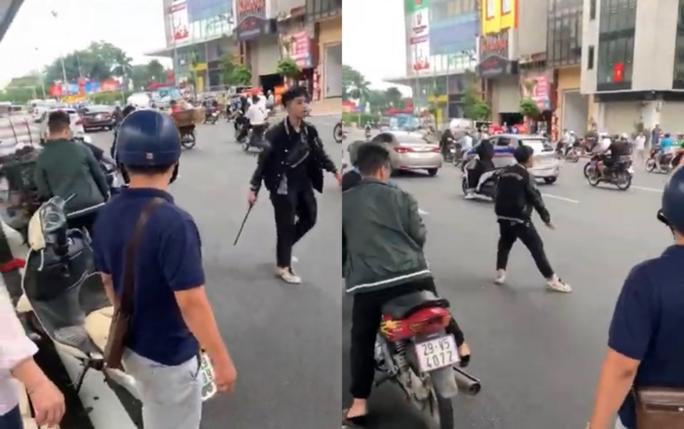 Thông tin ngỡ ngàng về kẻ dùng gậy sắt đập phá xe máy người bênh vực bà bầu sau va chạm giao thông - Ảnh 2.