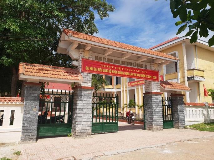 Trụ sở UBND xã Quảng Lưu - nơi nhiều lãnh đạo, nguyên lãnh đạo