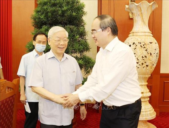 Tổng Bí thư, Chủ tịch nước chủ trì buổi làm việc với Ban Thường vụ Thành ủy TP HCM - Ảnh 6.