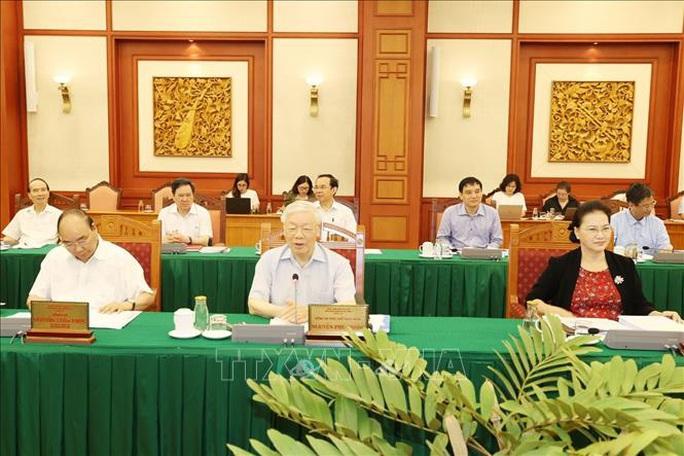 Tổng Bí thư, Chủ tịch nước chủ trì buổi làm việc với Ban Thường vụ Thành ủy TP HCM - Ảnh 3.