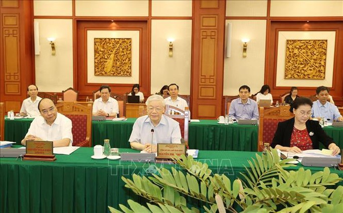 Tổng Bí thư, Chủ tịch nước chủ trì buổi làm việc với Ban Thường vụ Thành ủy TP HCM - Ảnh 4.