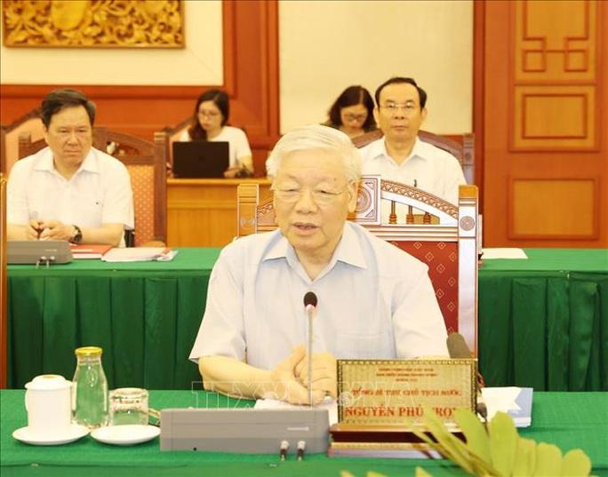 Tổng Bí thư, Chủ tịch nước chủ trì buổi làm việc với Ban Thường vụ Thành ủy TP HCM - Ảnh 5.