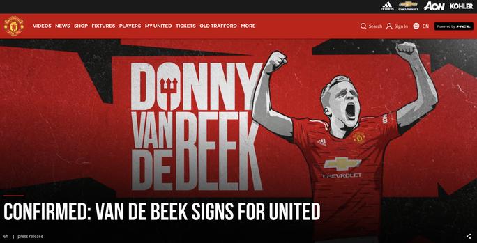 Van de Beek ký hợp đồng chính thức, fan Man United vỡ òa hạnh phúc - Ảnh 1.