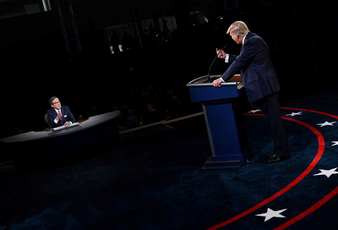 Tranh luận tổng thống Mỹ: Người điều phối như thể biến mất - Ảnh 1.