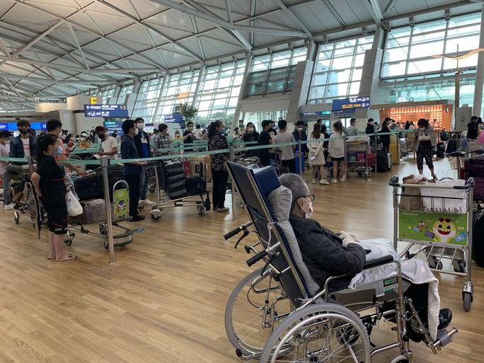 Sân bay Tân Sơn Nhất đón 405 người Việt từ Hàn Quốc - Ảnh 1.