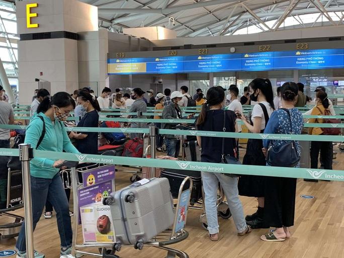 Sân bay Tân Sơn Nhất đón 405 người Việt từ Hàn Quốc - Ảnh 2.