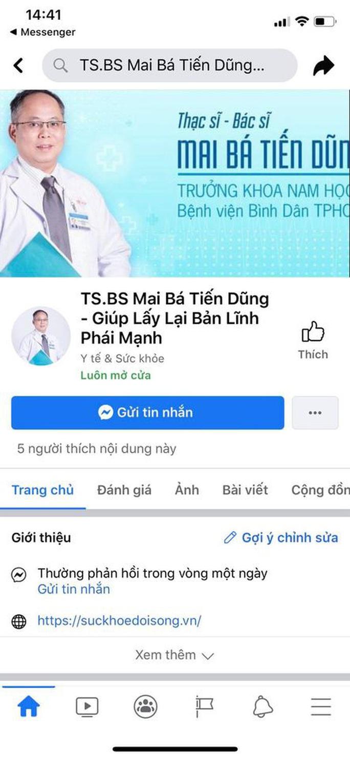 Một bác sĩ bị mạo danh Facebook để chữa 1 lần, cả đời không lo xuất sớm - Ảnh 1.