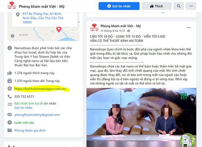 1 phòng khám mạo danh Bệnh viện Mắt Sài Gòn để trục lợi?  - Ảnh 1.