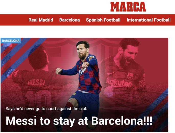 Lật kèo chấn động, Messi tuyên bố ở lại Barcelona - Ảnh 1.