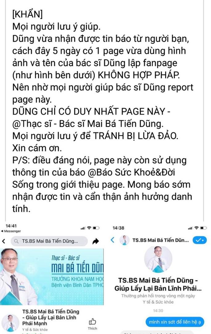 Một bác sĩ bị mạo danh Facebook để chữa 1 lần, cả đời không lo xuất sớm - Ảnh 2.