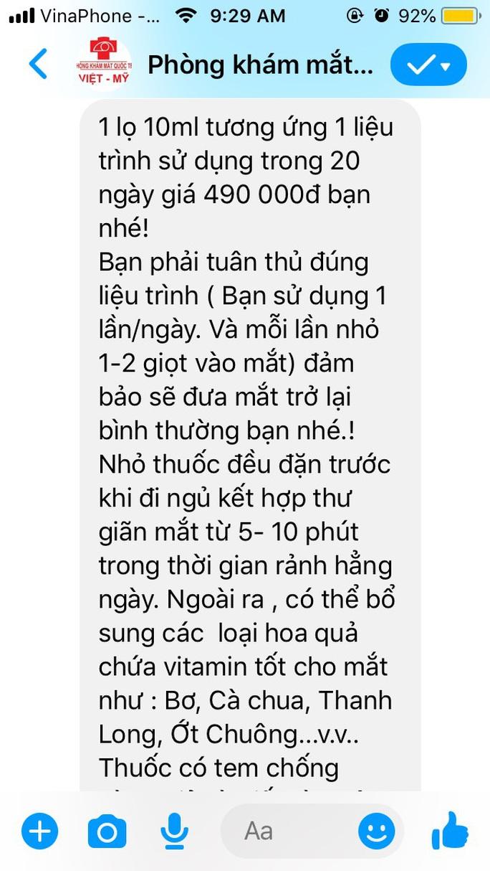 1 phòng khám mạo danh Bệnh viện Mắt Sài Gòn để trục lợi?  - Ảnh 2.