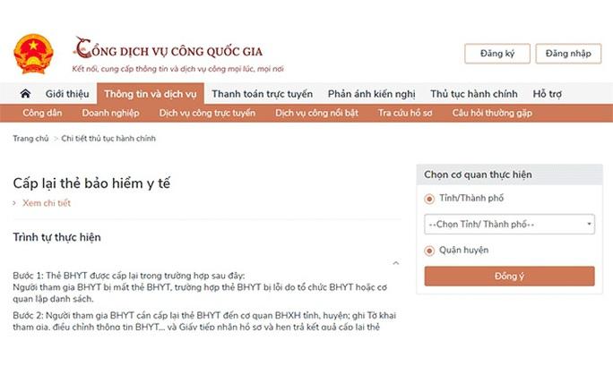 Cách gia hạn BHYT trực tuyến trên Cổng dịch vụ công Quốc gia - Ảnh 1.