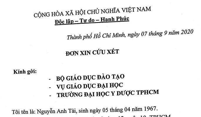 ĐH Y dược TP HCM không gia hạn nhận chứng chỉ tiếng Anh, Phụ huynh làm đơn lên Bộ GD-ĐT  - Ảnh 1.