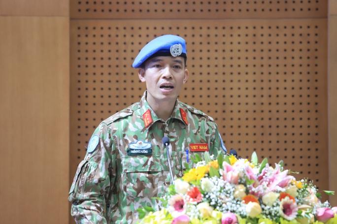Sĩ quan Việt Nam kể chuyện vượt ải thi đỗ vào cơ quan của Liên Hiệp Quốc - Ảnh 1.