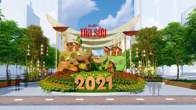 Có gì ở Đường hoa Nguyễn Huệ Tết Tân Sửu 2021? - Ảnh 1.