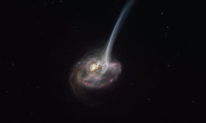Phát hiện vật thể vượt thời gian phun ra 10.000 mặt trời khí - Ảnh 1.