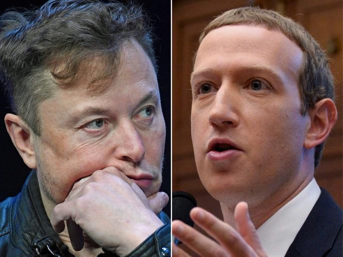 Hai tỉ phú công nghệ Elon Musk và Mark Zuckerberg ghét nhau ra mặt - Ảnh 1.
