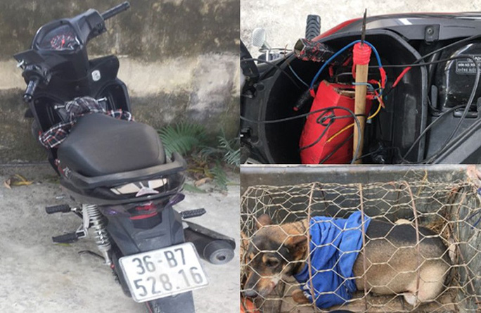 2 cẩu tặc mang chó câu trộm đi bán gặp ngay công an - Ảnh 2.