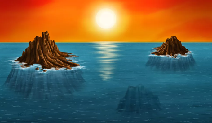 Phát hiện hòn đảo mất tích nơi sự sống Trái Đất đầu tiên ra đời - Ảnh 1.