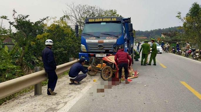 Tai nạn giao thông, 2 bố con tử vong - Ảnh 1.