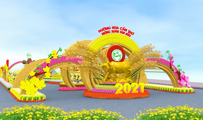 Cần Thơ đổi địa điểm thực hiện Đường hoa Xuân sau 6 năm tổ chức - Ảnh 2.