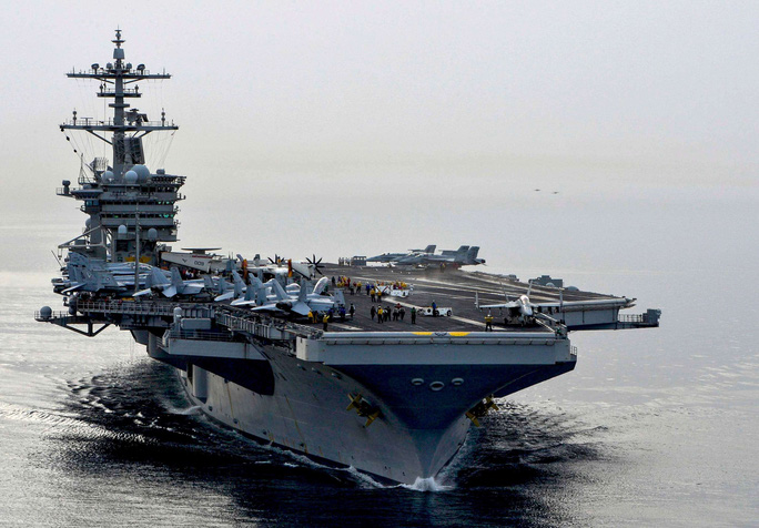 Nhóm tác chiến tàu sân bay Mỹ tiến vào biển Đông - Ảnh 1.