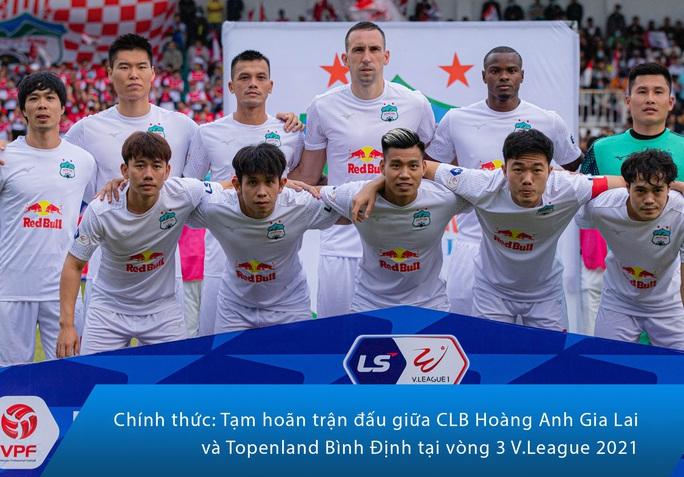 Hoãn trận HAGL - Topenland Bình Định, cầu thủ hai đội chính thức xả trại nghỉ Tết - Ảnh 1.