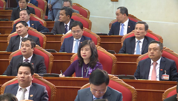 Chùm ảnh: Trung ương khóa XIII họp bầu Bộ Chính trị, Tổng Bí thư - Ảnh 11.