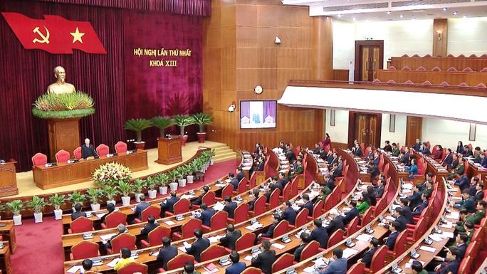 Chùm ảnh: Trung ương khóa XIII họp bầu Bộ Chính trị, Tổng Bí thư - Ảnh 9.