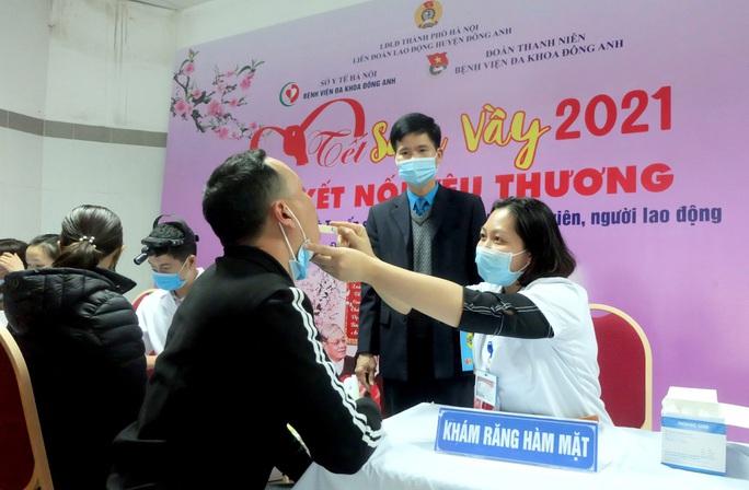 Hà Nội: Tặng quà, khám sức khỏe miễn phí cho công nhân - Ảnh 1.