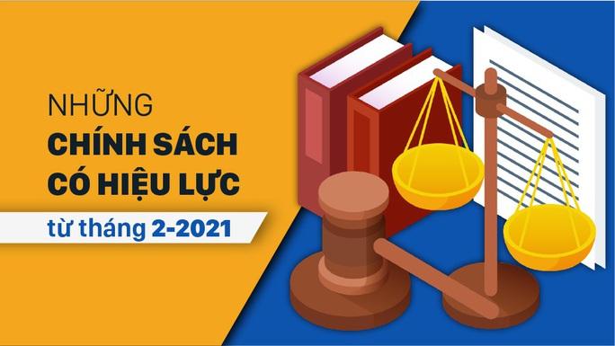 Những quy định có hiệu lực từ tháng 2-2021 - Ảnh 1.
