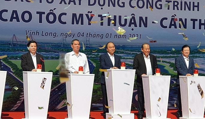 Thủ tướng phát lệnh khởi công tuyến cao tốc Mỹ Thuận - Cần Thơ - Ảnh 3.