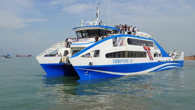 Phà biển Cần Giờ - Vũng Tàu bắt đầu hoạt động - Ảnh 1.