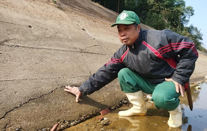 Kênh 4.300 tỉ đứt gãy giữa mùa khô: Lộ nhiều điểm nứt, hư hỏng sau sự cố - Ảnh 5.