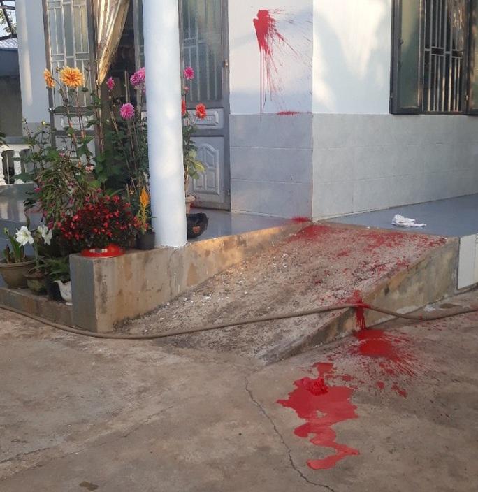 Nhà nguyên trưởng Phòng Giáo dục bị tạt sơn đêm mùng 1 Tết - Ảnh 2.