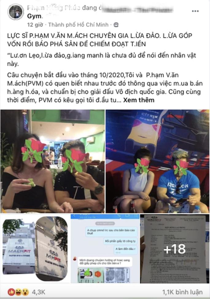 Thực hư chuyện lực sĩ Phạm Văn Mách bị tố lừa đảo, chiếm đoạt tài sản - Ảnh 1.