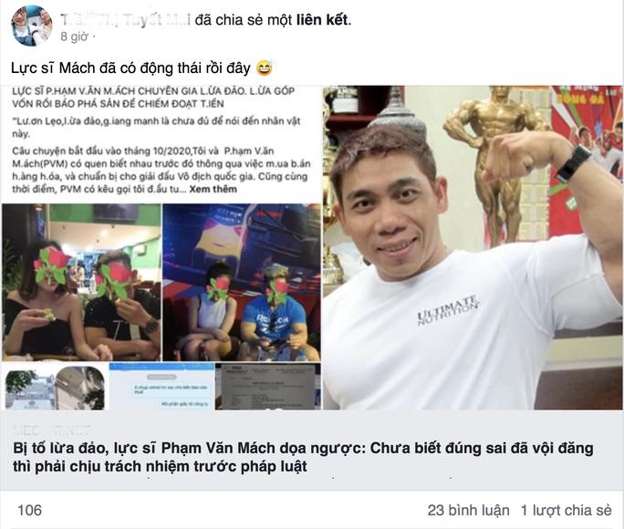 Thực hư chuyện lực sĩ Phạm Văn Mách bị tố lừa đảo, chiếm đoạt tài sản - Ảnh 9.