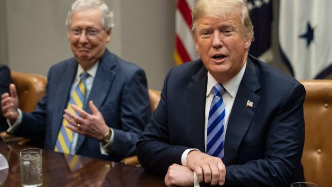 """Ông Trump """"tấn công"""" dữ dội lãnh đạo Đảng Cộng hòa tại Thượng viện - Ảnh 1."""