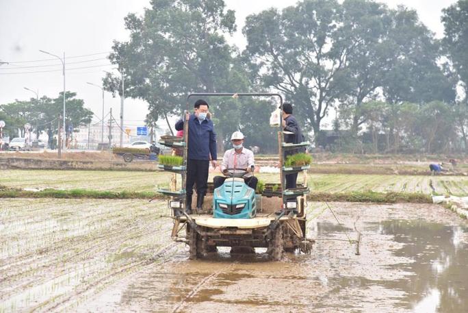 Bí thư Vương Đình Huệ xuống ruộng cấy lúa cùng bà con - Ảnh 2.