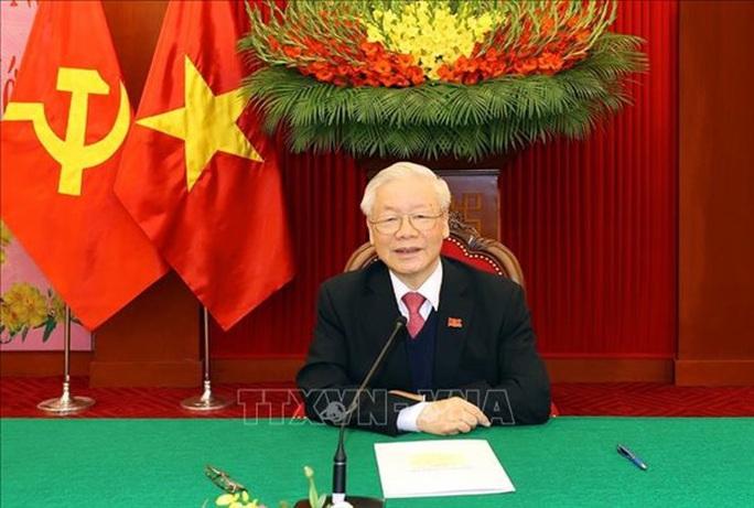 Tổng Bí thư, Chủ tịch nước Nguyễn Phú Trọng điện đàm với Tổng Bí thư, Thủ tướng Lào Thongloun Sisoulith - Ảnh 1.