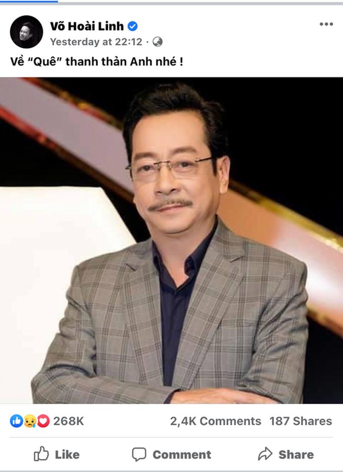 Hoài Linh gửi lời tiễn biệt NSND Hoàng Dũng gây xúc động - Ảnh 2.