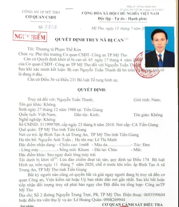 Truy nã đối tượng Nguyễn Tuấn Thanh - Ảnh 2.