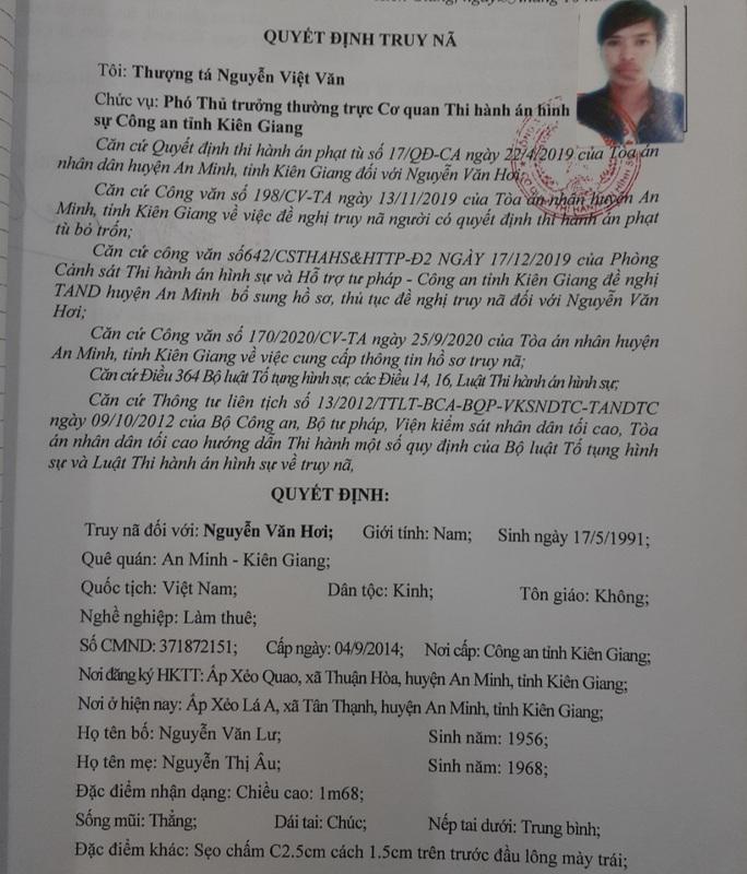 Bất kỳ ai cũng có quyền bắt đối tượng truy nã Nguyễn Văn Hơi - Ảnh 2.