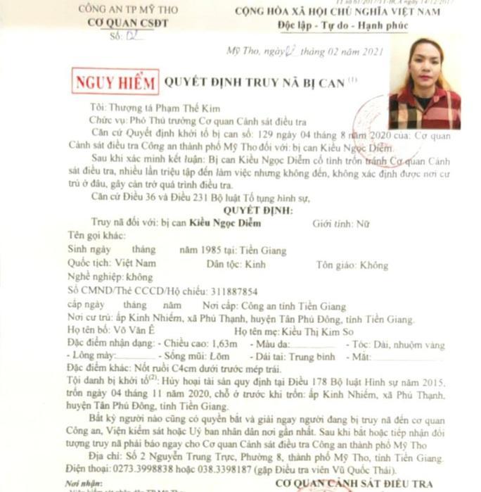 Công an Mỹ Tho truy nã người phụ nữ đốt nhà chồng cũ - Ảnh 3.