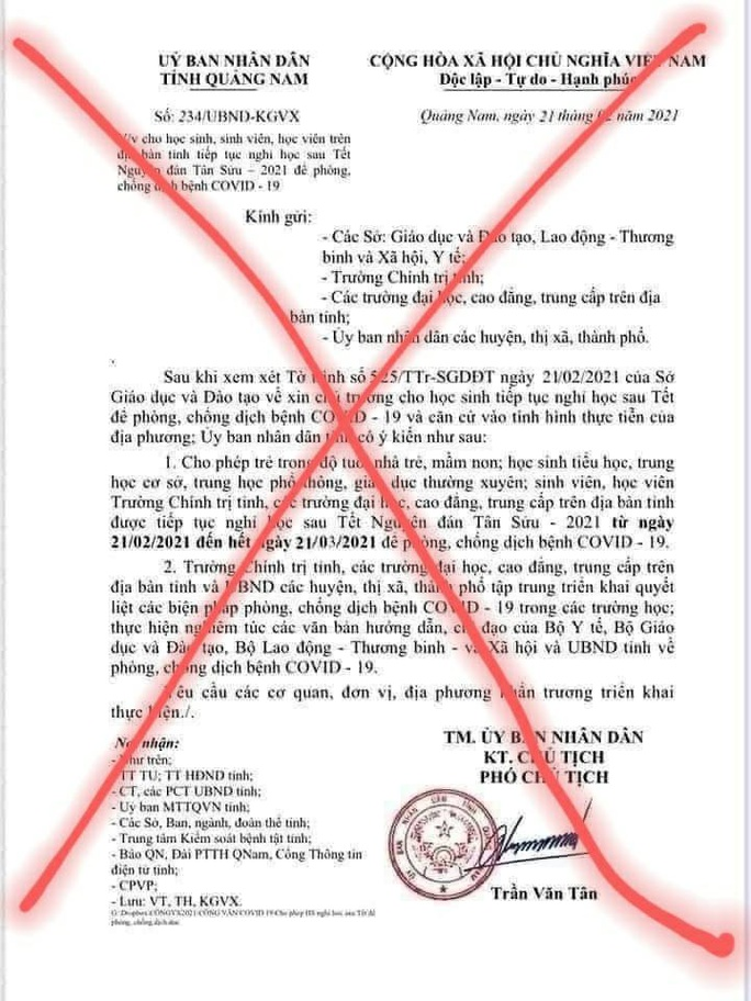 Quảng Nam: Người làm giả văn bản cho nghỉ học là… học sinh cấp 2 - Ảnh 1.