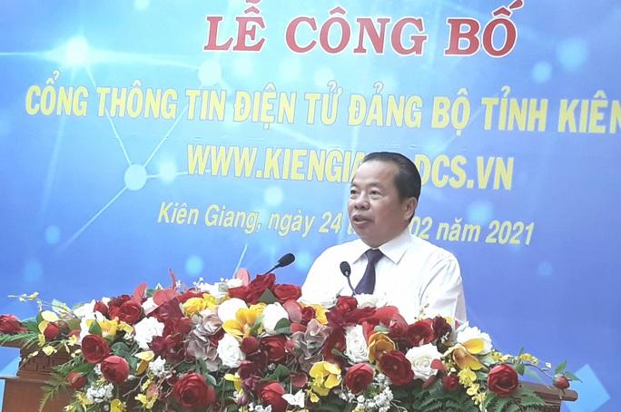 Tỉnh ủy Kiên Giang ra mắt cổng thông tin điện tử - Ảnh 1.