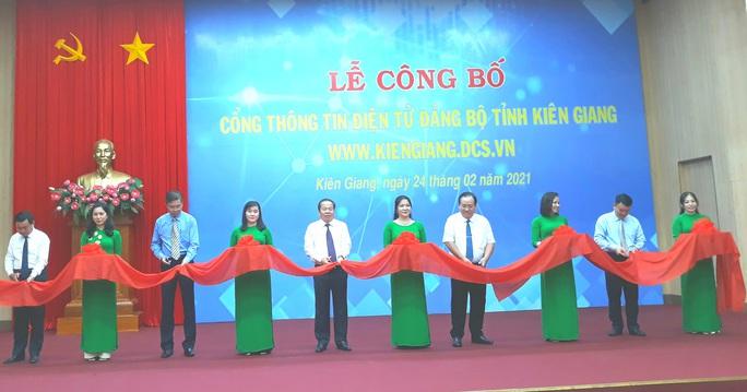 Tỉnh ủy Kiên Giang ra mắt cổng thông tin điện tử - Ảnh 2.