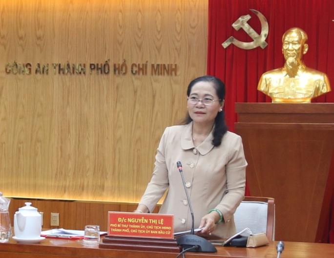 Ủy ban bầu cử TP HCM  làm việc với Công an TP - Ảnh 1.